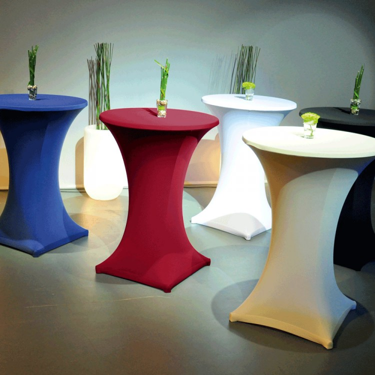 Tovaglie e tessuti nolopoint simplewedding arredi ed for Tavoli alti design